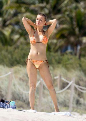 Joanna Krupa in Orange Bikini in Miami
