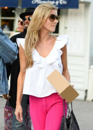 Joanna Krupa in Pink Pants out in Warsaw