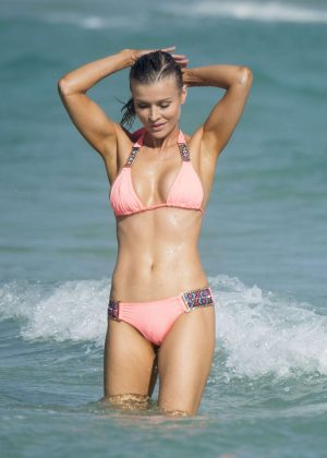 Joanna Krupa in Skimpy Bikini on Miami Beach