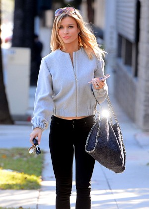 Joanna Krupa in Tight Jeans Out in Los Angeles