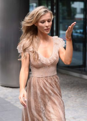 Joanna Krupa - Leaving TV show 'Good Morning TVN' in Warsaw