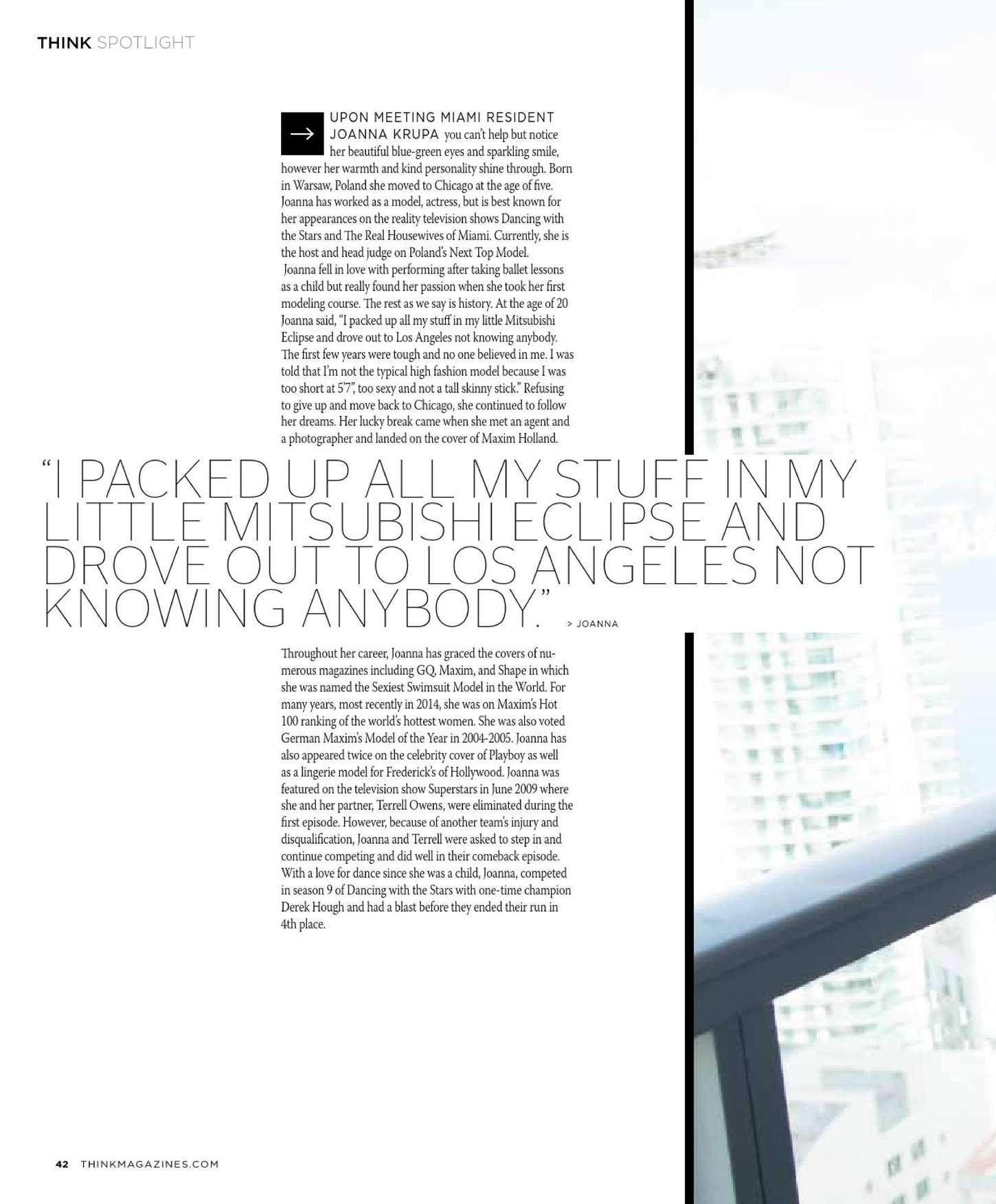 Joanna Krupa 2015 : Joanna Krupa: THINK Magazine 2015 -05
