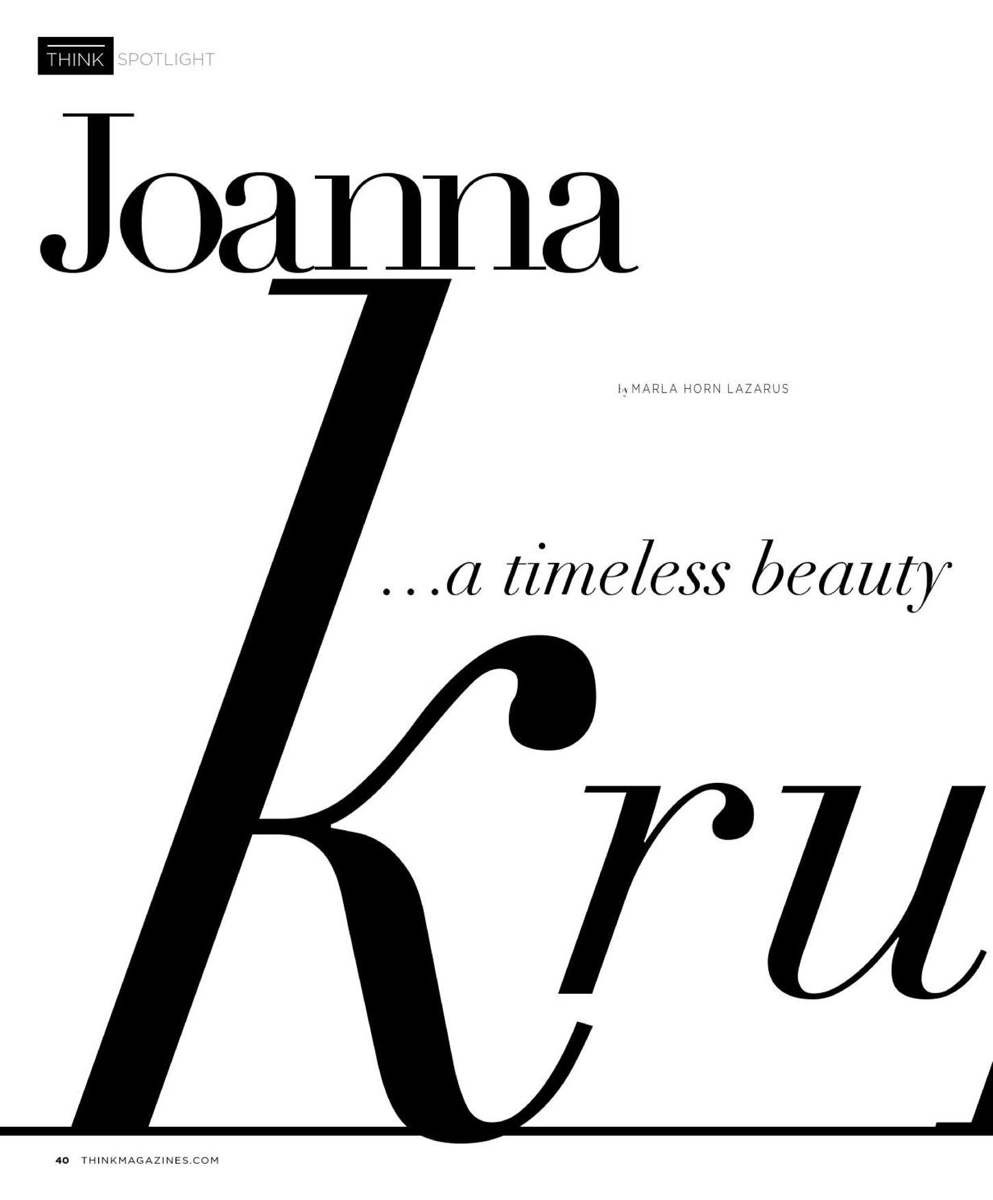 Joanna Krupa 2015 : Joanna Krupa: THINK Magazine 2015 -06