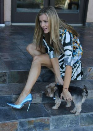 Joanna Krupa With Her Dogs out in Los Angeles