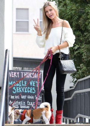 Joanna Krupa With Her Dogs Out in Studio City
