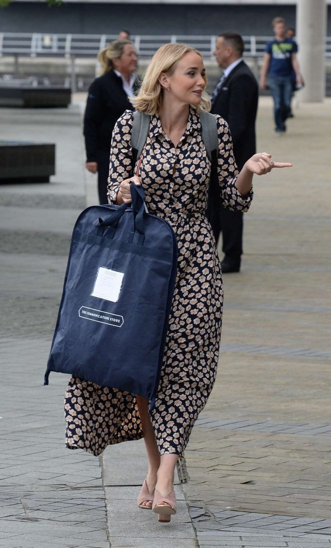 Joanna Vanderham Leaving the BBC Breakfast Studio -01