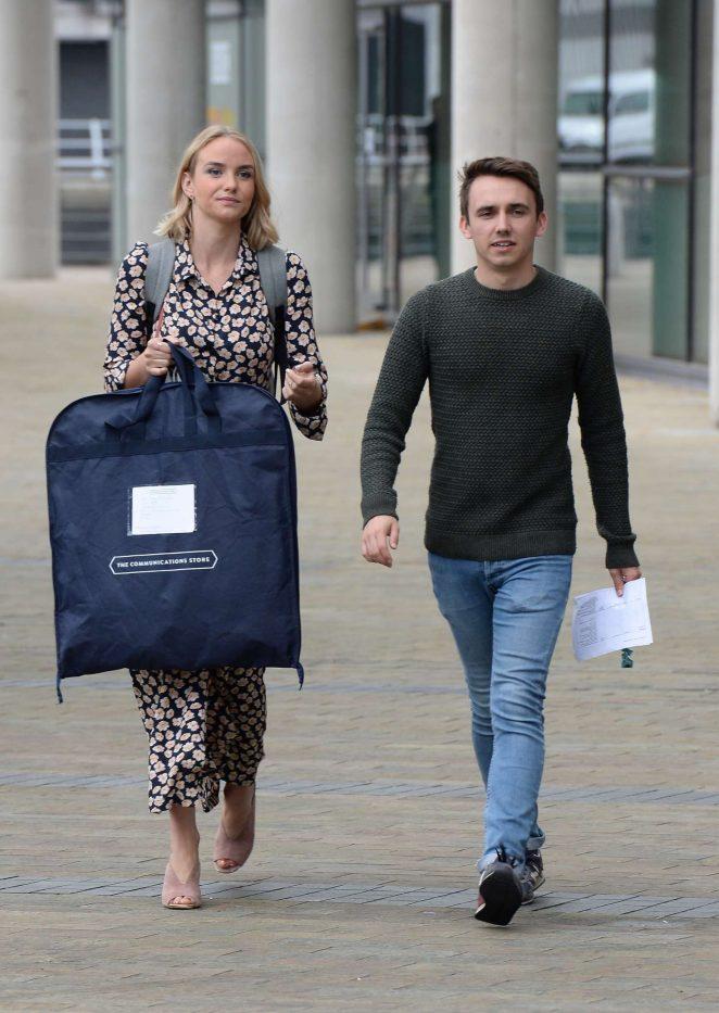 Joanna Vanderham Leaving the BBC Breakfast Studio -10