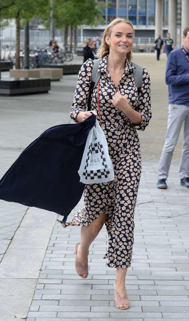 Joanna Vanderham Leaving the BBC Breakfast Studio -11