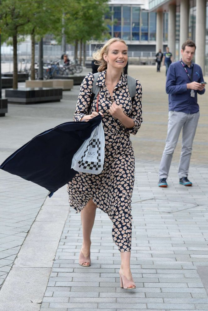 Joanna Vanderham Leaving the BBC Breakfast Studio in Media City