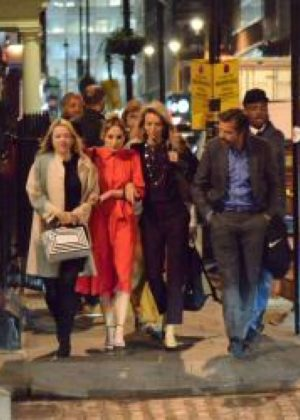 Joanne Froggatt night out with friends in London -15 ...