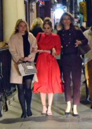 Joanne Froggatt night out with friends in London