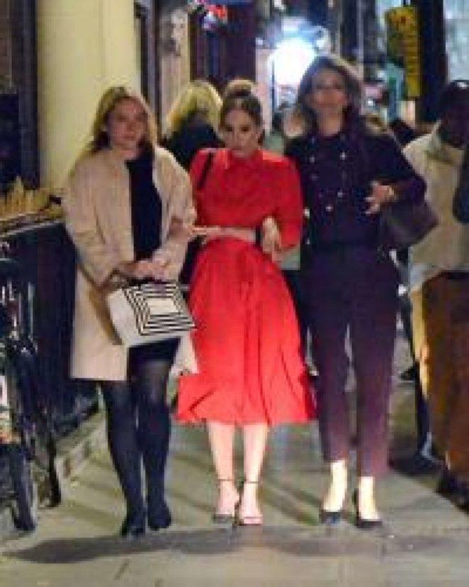 Joanne Froggatt night out with friends in London