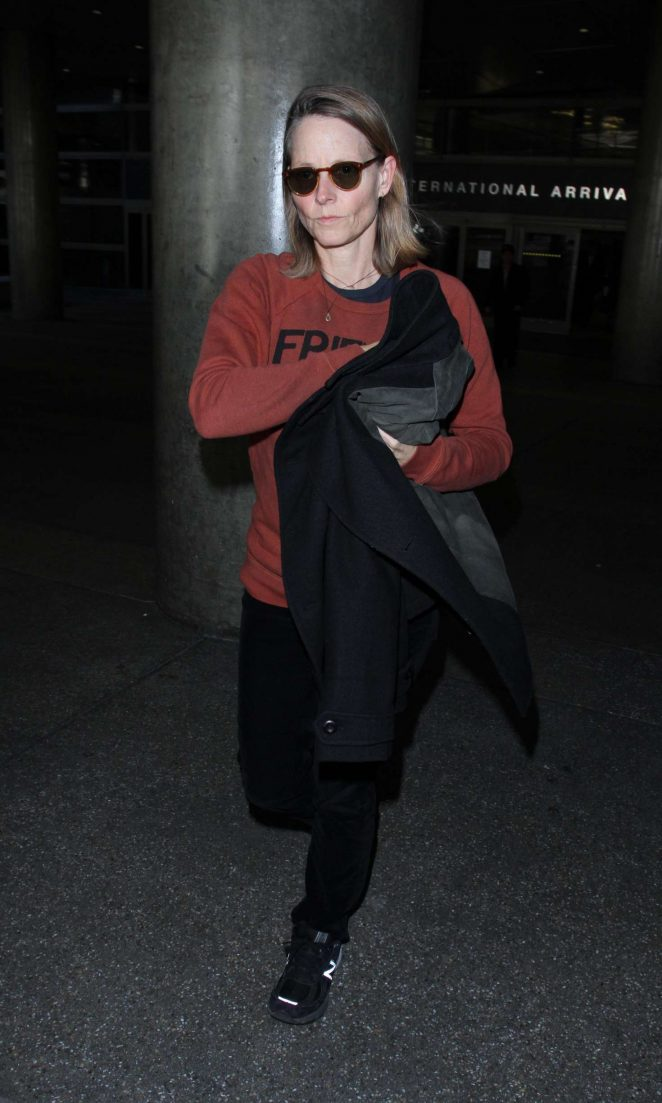 Jodie Foster at LAX in Los Angeles
