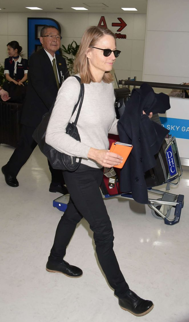 Jodie Foster at Narita International Airport in Japan