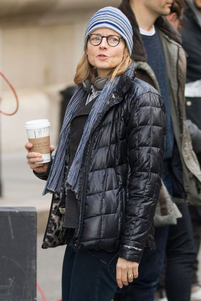 "Jodie Foster - Filming ""Money Monster"" in Wall Street"