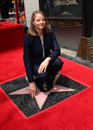 Jodie Foster - Honored With Star On The Hollywood Walk Of Fame