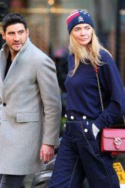 Jodie Kidd arriving at Scott's restaurant in Mayfair - London