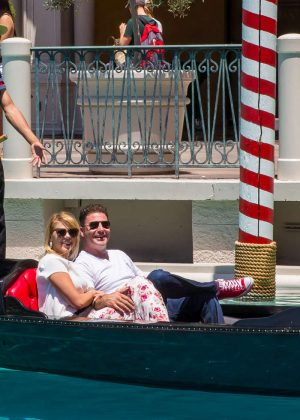 Jodie Sweetin a gondola ride in Las Vegas -02