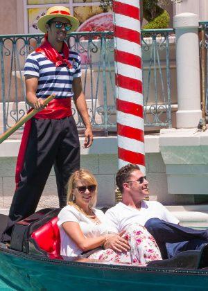 Jodie Sweetin a gondola ride in Las Vegas -03