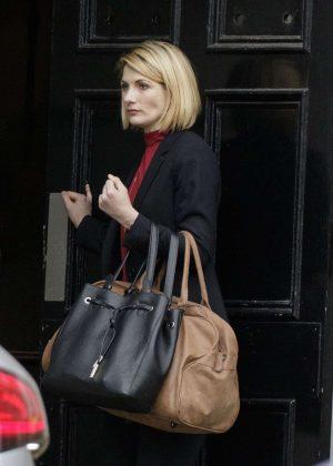 Jodie Whittaker on the set of 'Trust Me' in Edinburgh