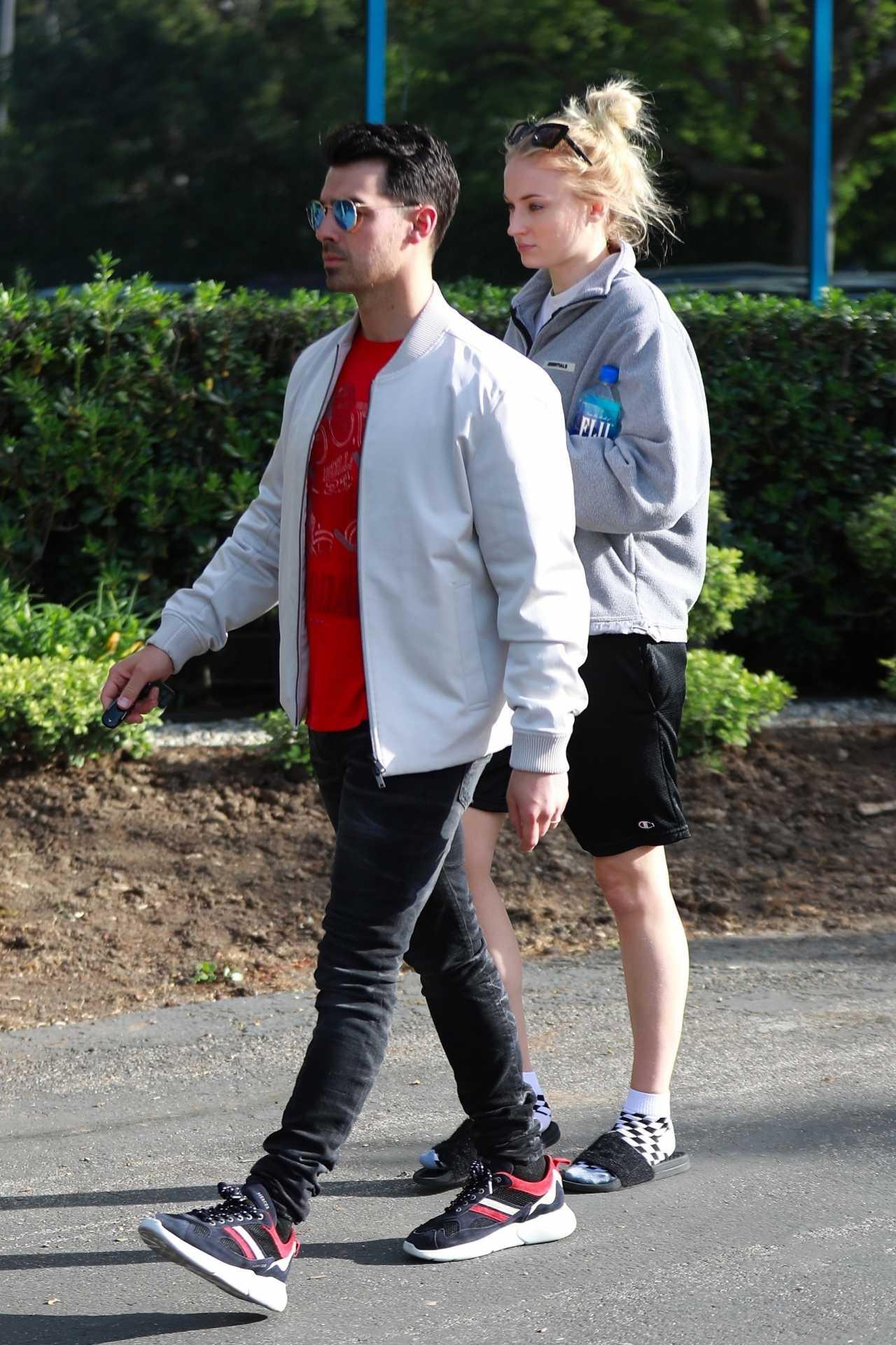 Sophie Turner 2020 : Joe Jonas with Sophie Turner – Seen out in Los Angeles-07