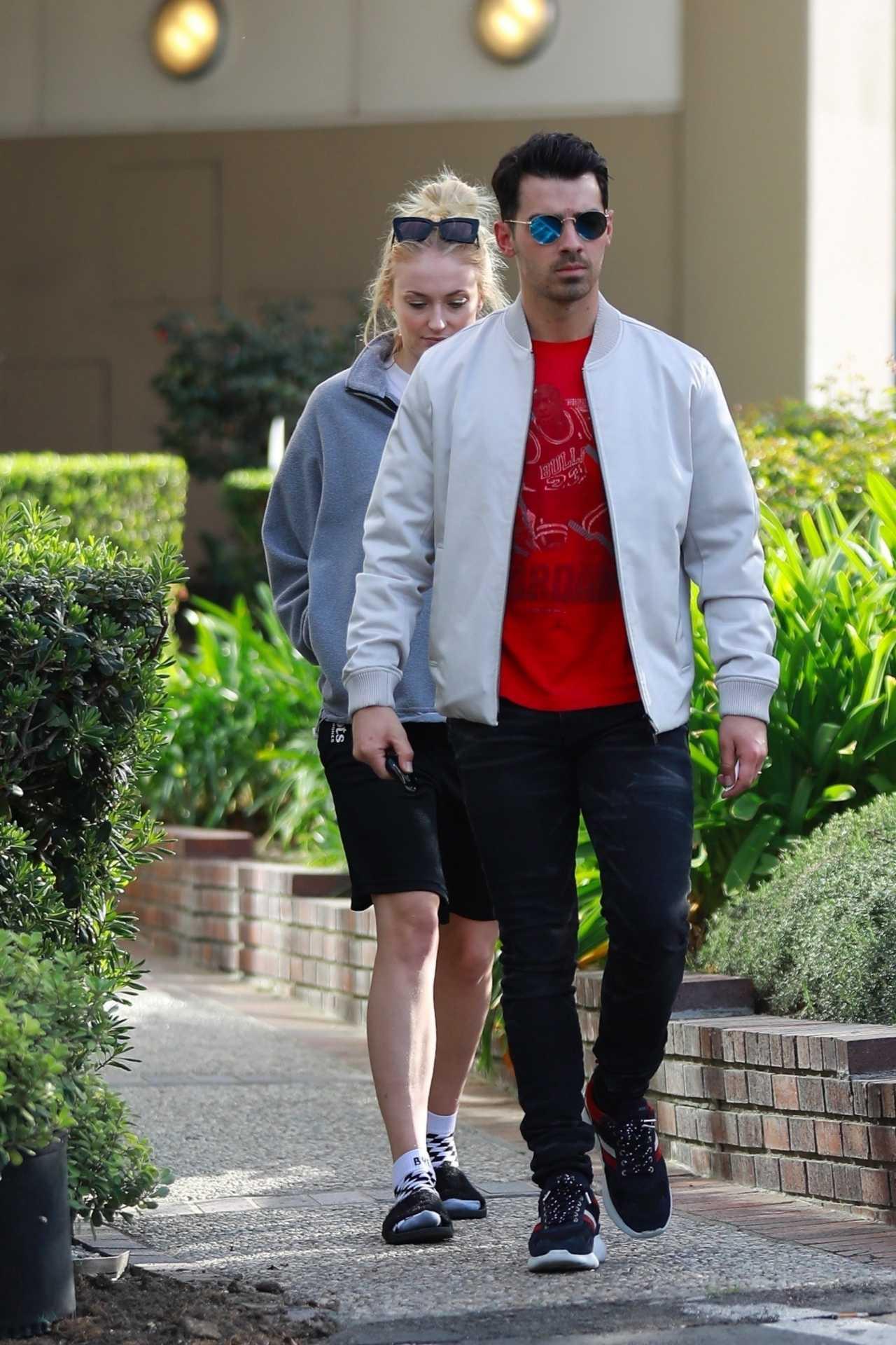 Sophie Turner 2020 : Joe Jonas with Sophie Turner – Seen out in Los Angeles-08