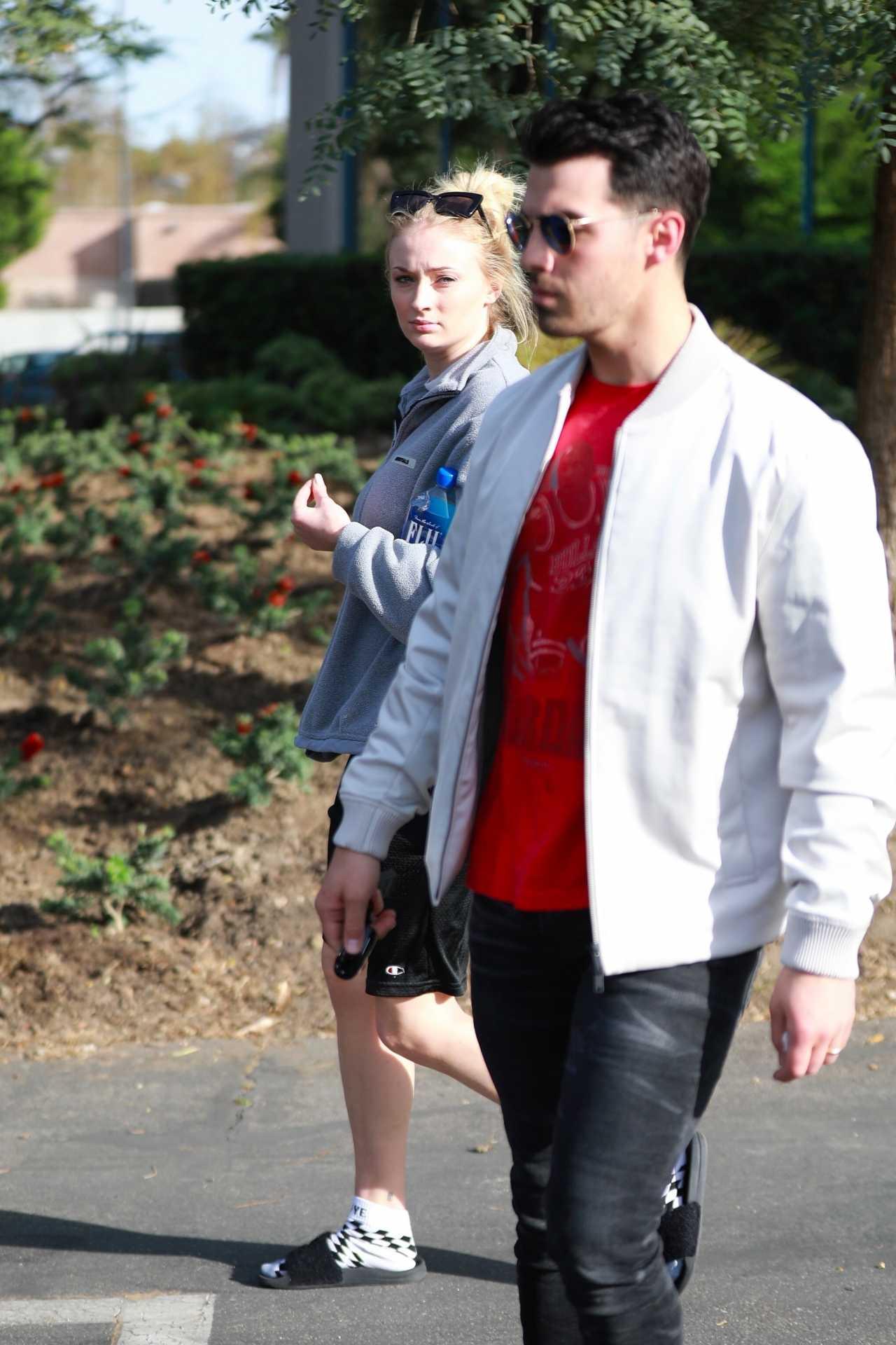 Sophie Turner 2020 : Joe Jonas with Sophie Turner – Seen out in Los Angeles-15