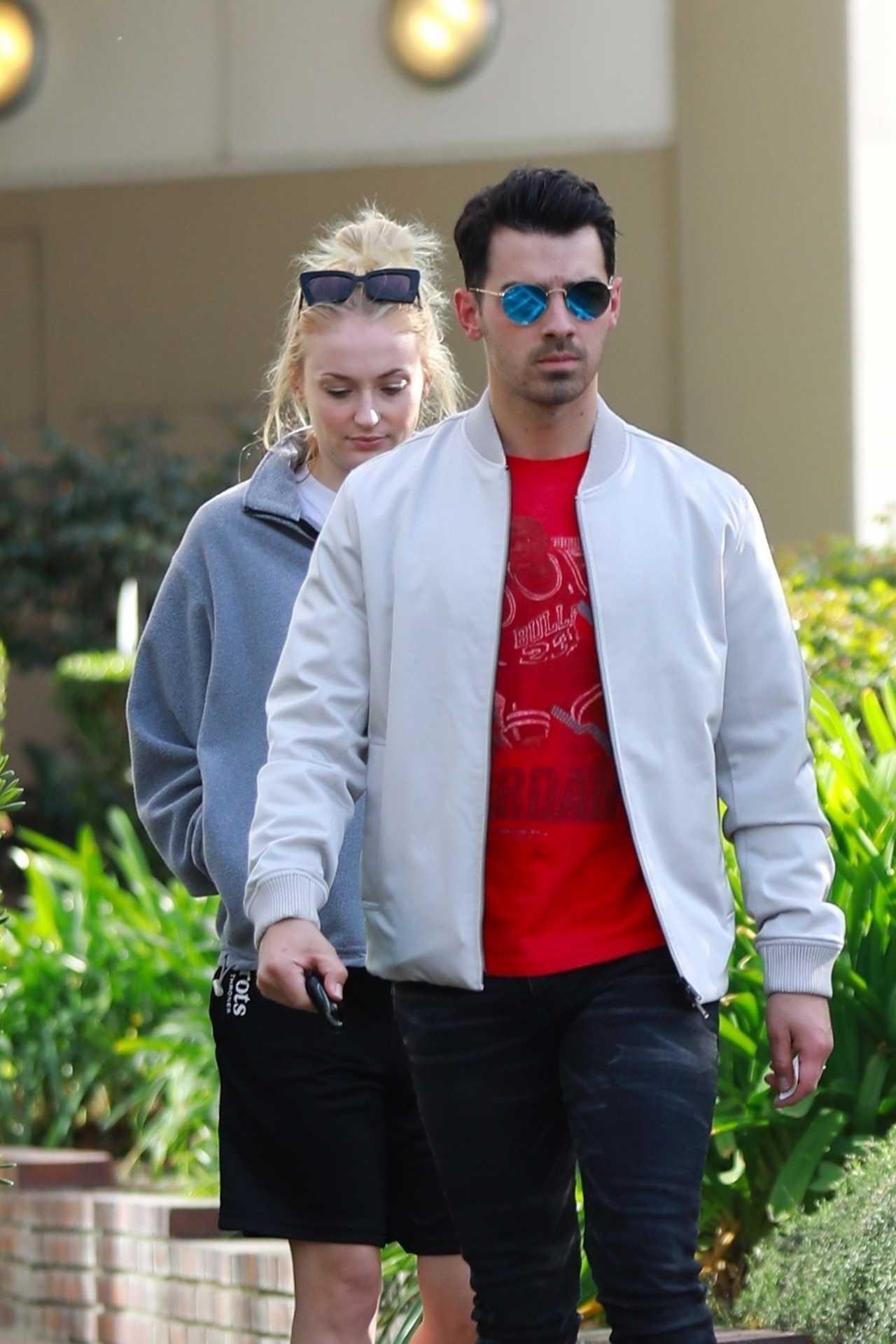 Sophie Turner 2020 : Joe Jonas with Sophie Turner – Seen out in Los Angeles-16