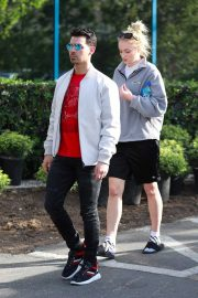 Joe Jonas with Sophie Turner - Seen out in Los Angeles