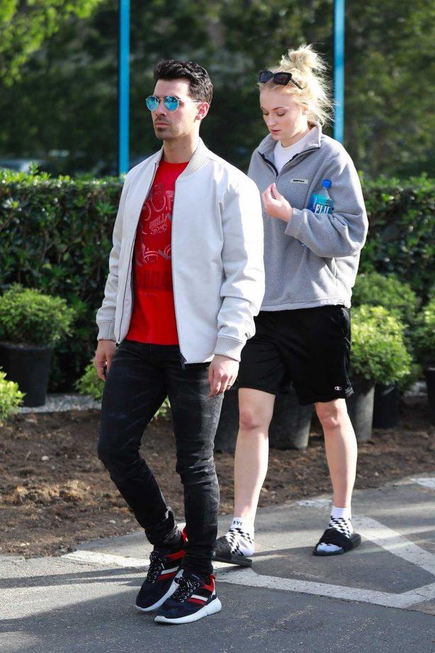 Joe Jonas with Sophie Turner - Seen out in Los Angeles