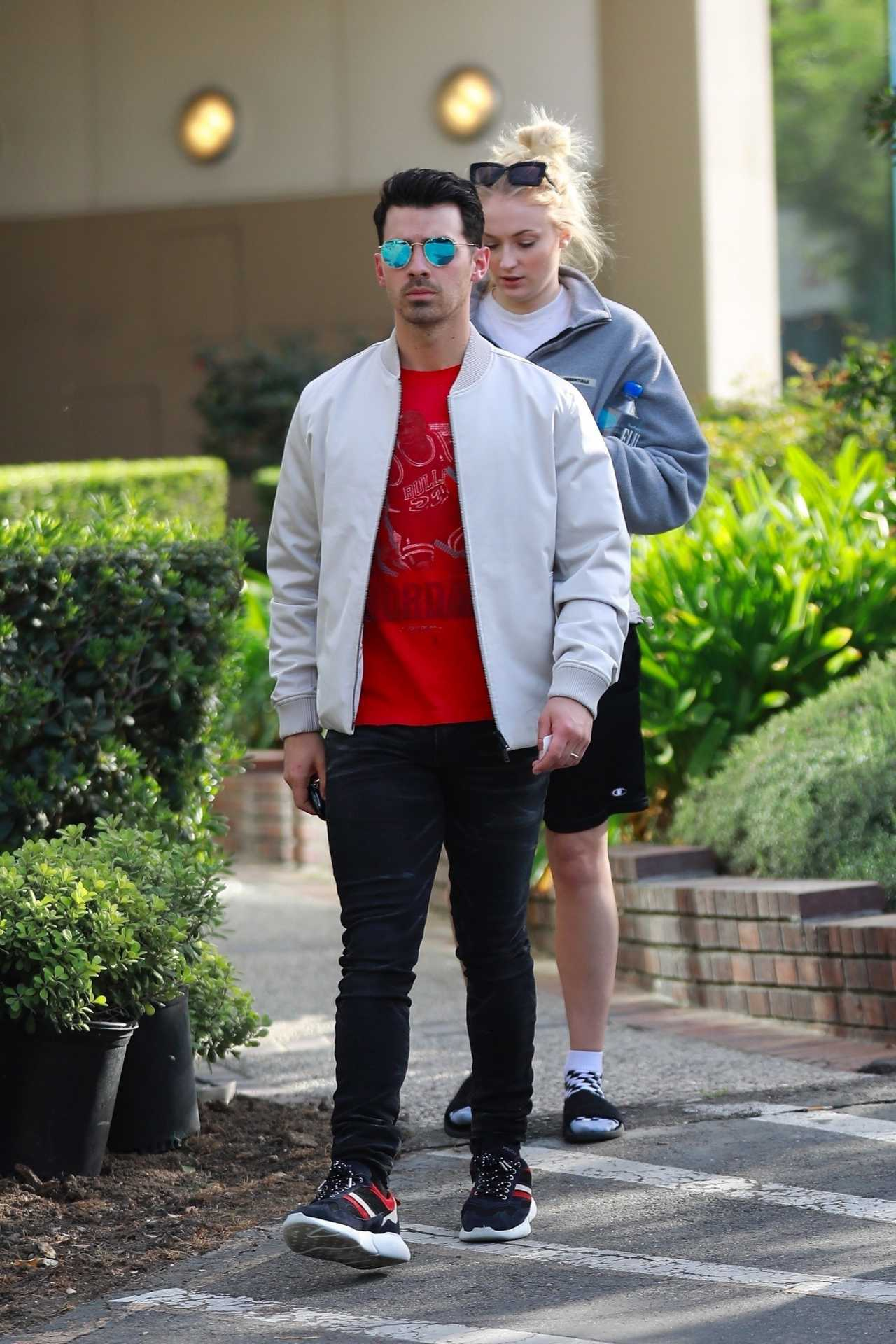 Sophie Turner 2020 : Joe Jonas with Sophie Turner – Seen out in Los Angeles-18