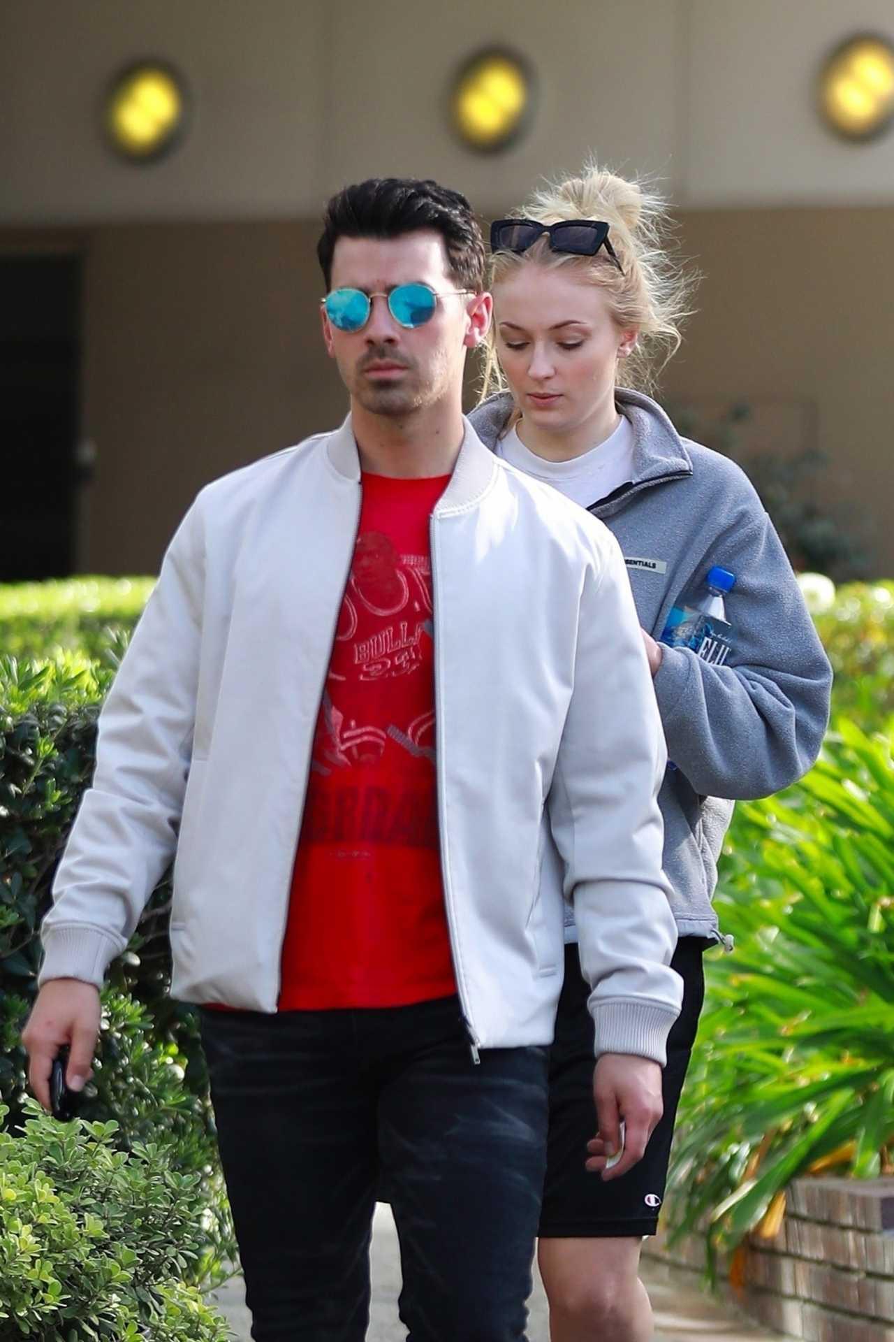 Sophie Turner 2020 : Joe Jonas with Sophie Turner – Seen out in Los Angeles-25