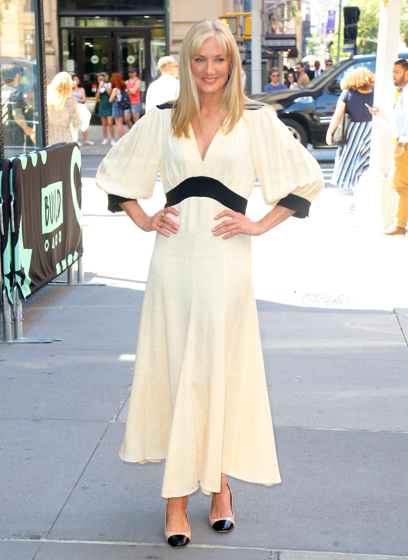 Joely Richardson - Outside the BUILD Series in New York City