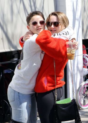 Joey and Hunter King at Joan's on Third in Studio City
