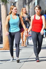 Joey and Hunter King - Out for coffee after a workout in Studio City