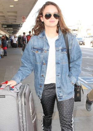 Joey King at LAX airport in Los Angeles