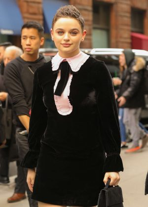 Joey King - Outside AOL Build in NYC