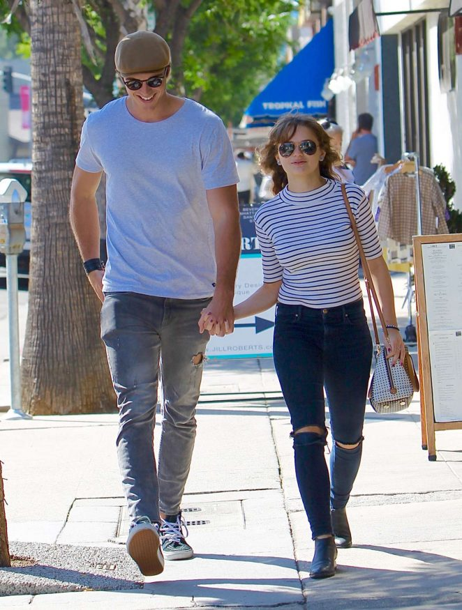 Joey King with a mystery man in Studio City | GotCeleb