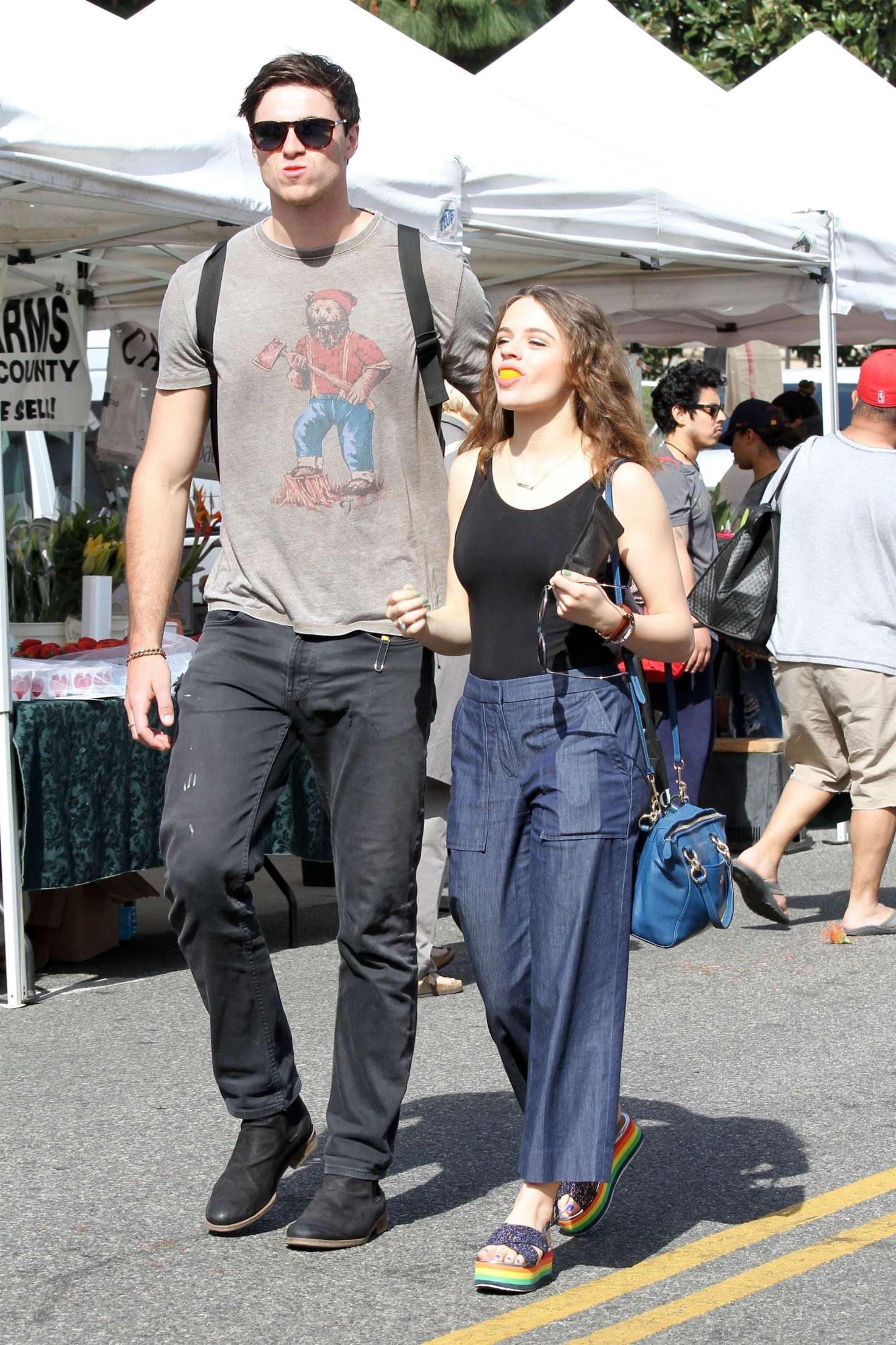 Joey King With Boyfriend Jacob Elordi At The Farmers