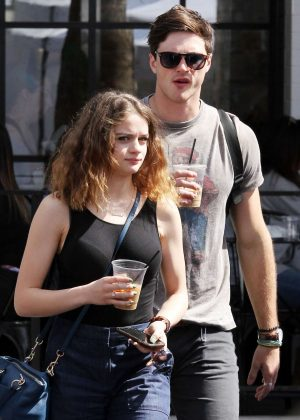 Joey King with boyfriend Jacob Elordi at the Farmer's Market in Studio City
