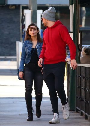 Joey King with her boyfriend at Hugo's in West Hollywood