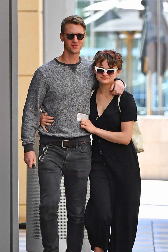 Joey King with her boyfriend Steven Piet out in Los Angeles