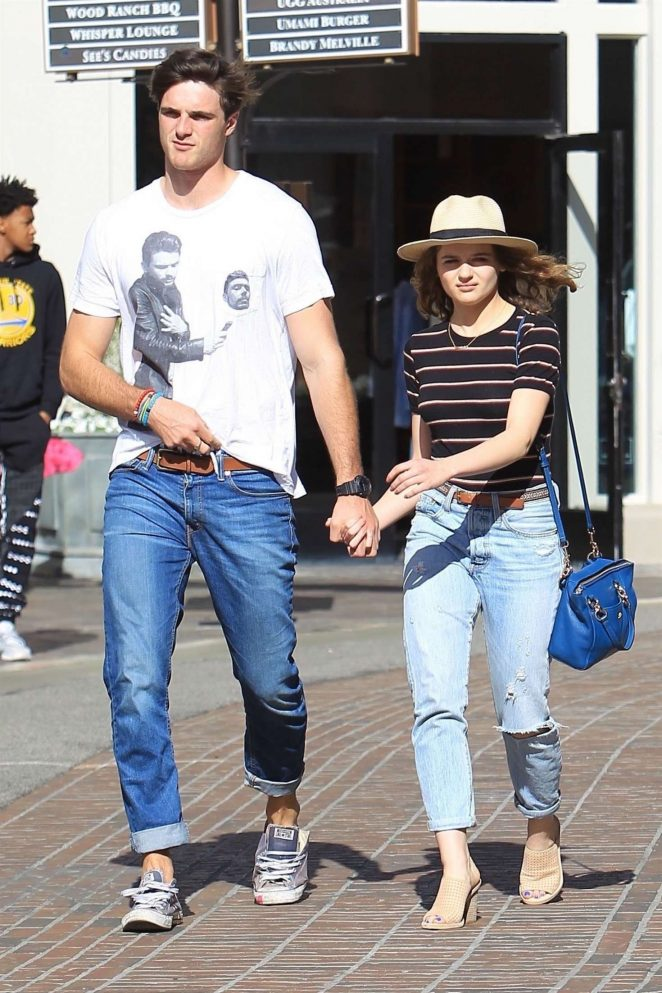 Joey King with Jacob Elordi - Shopping at The Grove in LA