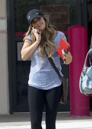 JoJo Fletcher in Tights out Shopping in Dallas