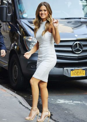 JoJo Fletcher in White Dress Out in NYC