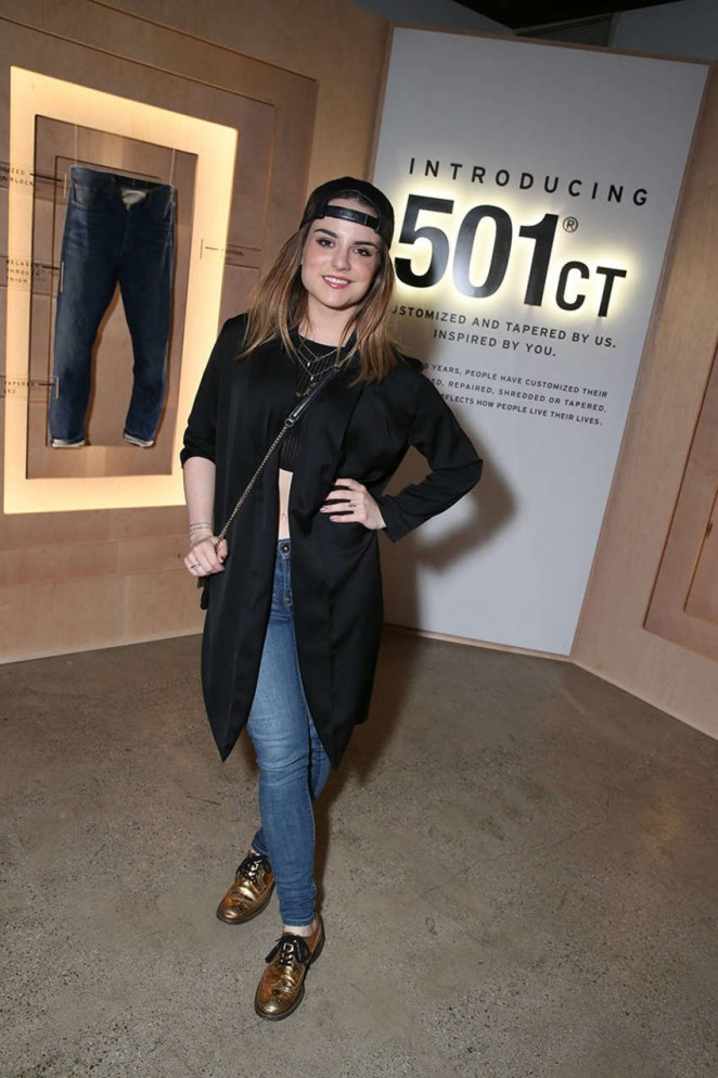 JoJo Levesque – Launch of the Levi's x Vogue Limited Edition 501CT in Hollywood