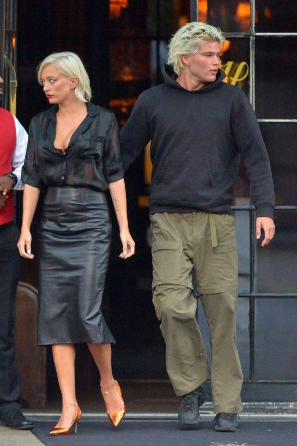 Jordan Barrett and Caroline Vreeland - Seen while out in New York City