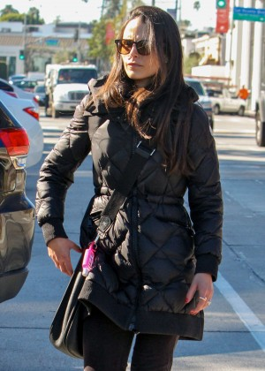 Jordana Brewster After lunch at Zinque in West Hollywood