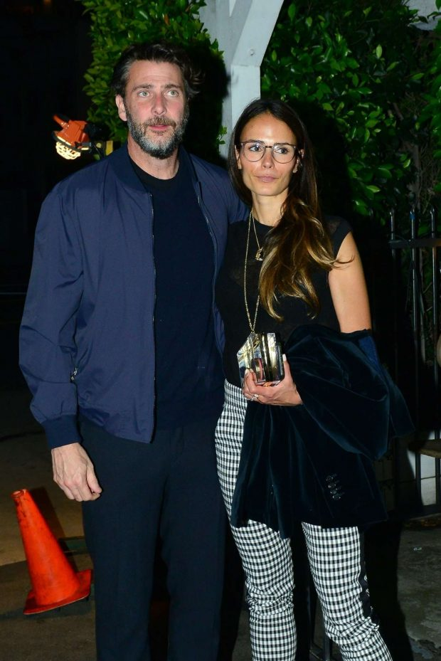 Jordana Brewster and Andrew Form - Out for a dinner at Giorgio Baldi in Santa Monica
