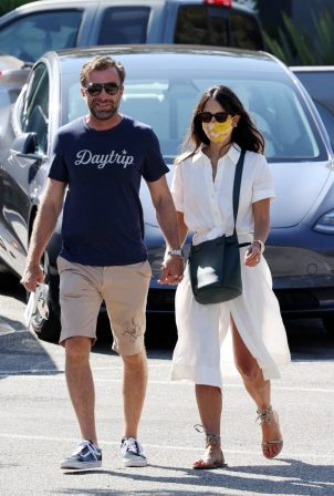 Jordana Brewster and boyfriend out in Los Angeles